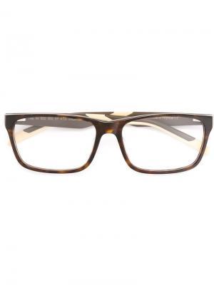 Оптические очки в прямоугольной оправе Tag Heuer. Цвет: коричневый