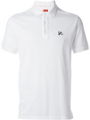 Классическая футболка-поло Isaia. Цвет: белый