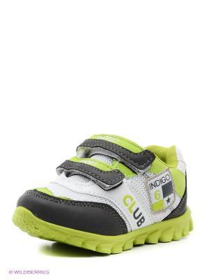 Кроссовки Indigo kids. Цвет: белый, светло-зеленый, хаки