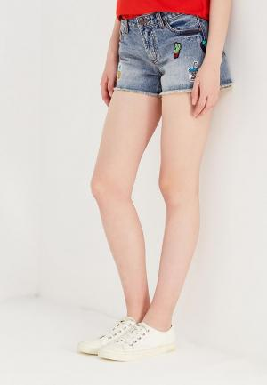 Шорты джинсовые Springfield. Цвет: голубой