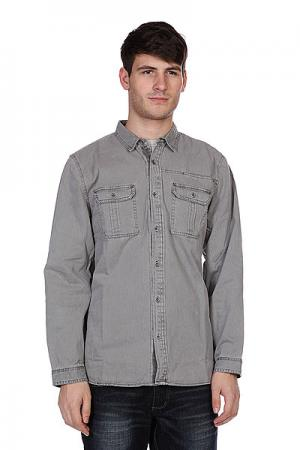 Рубашка  Classic Woven Grey Converse. Цвет: серый