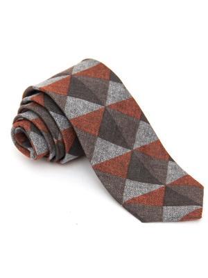 Галстук Churchill accessories. Цвет: рыжий, светло-бежевый, светло-коричневый, серый