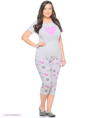 Женская пижама NICOLETTA. Цвет: серый