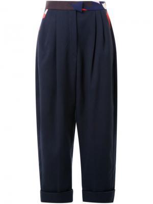 Укороченные брюки Delpozo. Цвет: синий