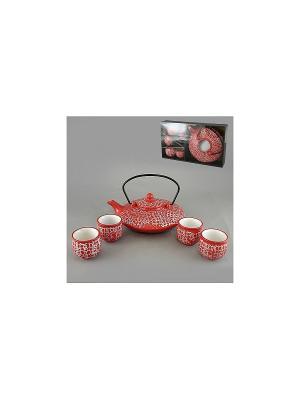 Набор чайный 5 пр. КРАСНЫЙ СКАТ SAGURO. Цвет: красный