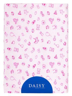 Пеленка Трикотаж 90х120 Игрушки DAISY. Цвет: малиновый, розовый