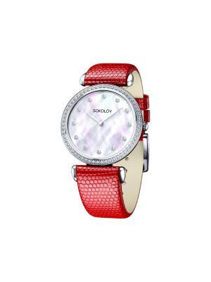 Часы ювелирные коллекция Perfection SOKOLOV. Цвет: красный, белый