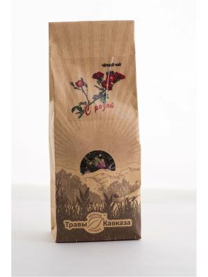 Чай черный с розой Травы Кавказа. Цвет: зеленый