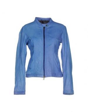 Куртка COMPAGNIA DELLE PELLI. Цвет: пастельно-синий