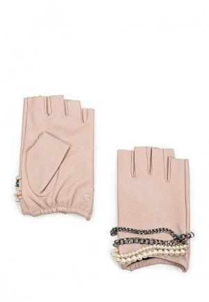 Митенки Karl Lagerfeld. Цвет: розовый
