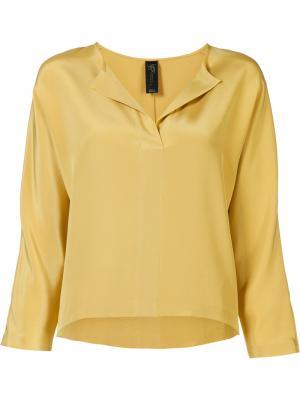 Блузка Willa Zero + Maria Cornejo. Цвет: жёлтый и оранжевый
