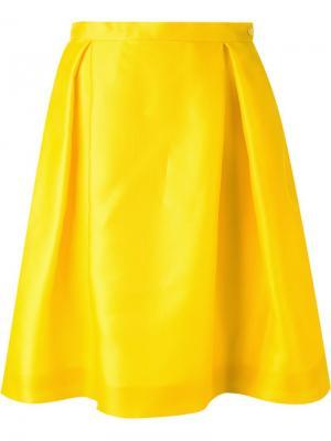 Плиссированная юбка Ingie Paris. Цвет: жёлтый и оранжевый
