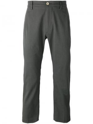 Укороченные брюки Efrem Pence. Цвет: зелёный
