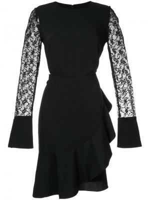 Платье с кружевными рукавами Goen.J. Цвет: чёрный