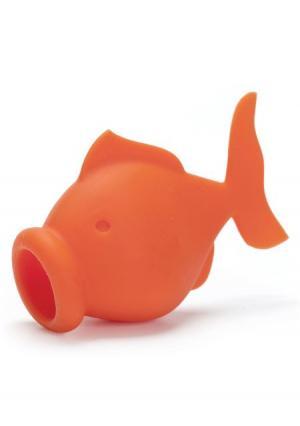 Прибор для отделения желтка от белка Yolkfish Peleg Design. Цвет: красный