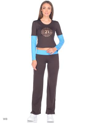 Спортивный костюм Bars. Цвет: коричневый