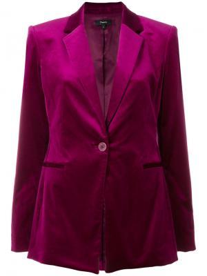 Однобортный пиджак Theory. Цвет: розовый и фиолетовый