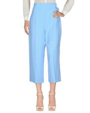 Повседневные брюки ELISABETTA FRANCHI. Цвет: небесно-голубой