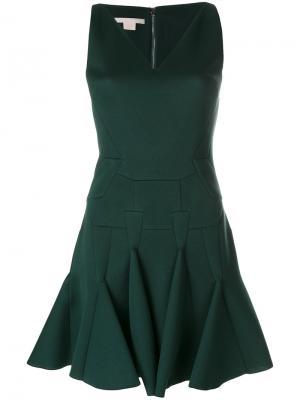 Платье мини с оборкой Antonio Berardi. Цвет: зелёный