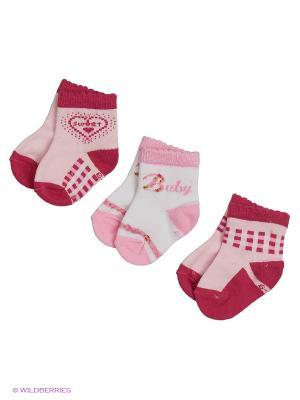 Носки для новорожденных PERA MAYA. Цвет: красный, розовый