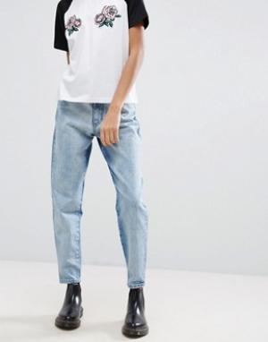 Chorus Джинсы в винтажном стиле с контрастными вставками. Цвет: синий