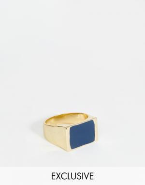 Designsix Квадратное кольцо. Цвет: золотой