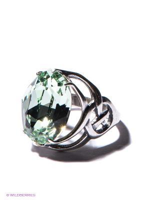 Кольцо Jenavi. Цвет: серебристый, светло-зеленый