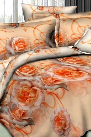 Постельное белье Евро 50х70 Patrizia. Цвет: оранжевый