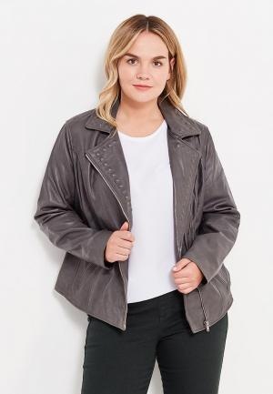 Куртка кожаная Violeta by Mango. Цвет: серый