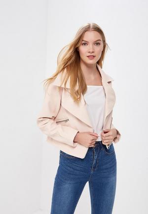 Куртка кожаная LOST INK. Цвет: розовый