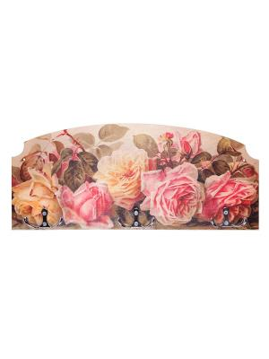 Вешалка-ключница розы Miolla. Цвет: розовый