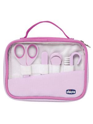 Набор для ухода за руками девочек, 0мес.+ CHICCO. Цвет: прозрачный, белый, розовый