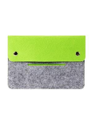 Чехол фетровый для планшета 8 дюймов IQ Format. Цвет: зеленый, серый