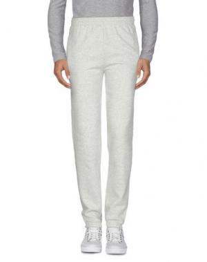 Повседневные брюки FRUIT OF THE LOOM. Цвет: светло-серый