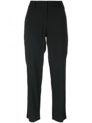 Укороченные брюки Theory. Цвет: чёрный