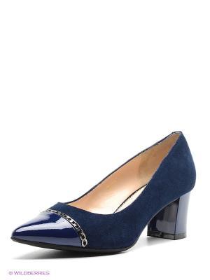 Туфли Moda Donna. Цвет: темно-синий
