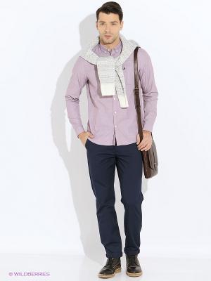 Рубашка Fred Perry. Цвет: сиреневый, бледно-розовый