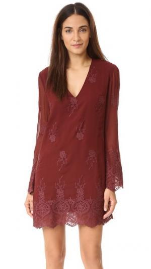 Платье Halifax WAYF. Цвет: бордовый/бордовый