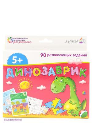 Набор занимательных карточек для дошколят Динозаврик АЙРИС-пресс. Цвет: белый, зеленый