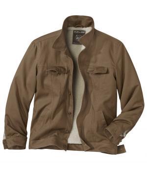 Куртка из Твила AFM. Цвет: коричневыи