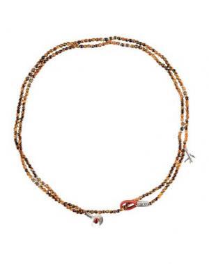 Ожерелье ISAIA. Цвет: коричневый