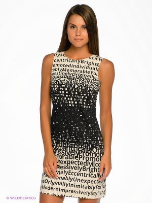 Платье DOCTOR E. Цвет: черный, белый