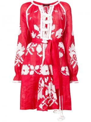 Миди платье с этнически рисунком Vita Kin. Цвет: красный