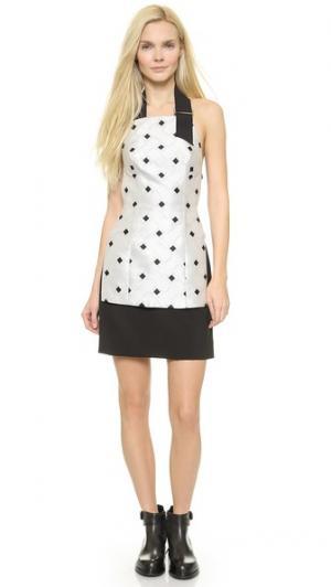 Многослойное мини-платье с завязками уздечкой Josh Goot. Цвет: мульти