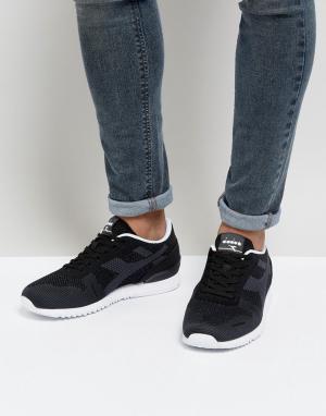 Diadora Черные плетеные кроссовки Titan. Цвет: черный