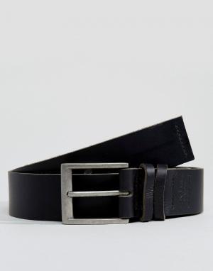 Dead Vintage Черный кожаный ремень для джинсов. Цвет: черный