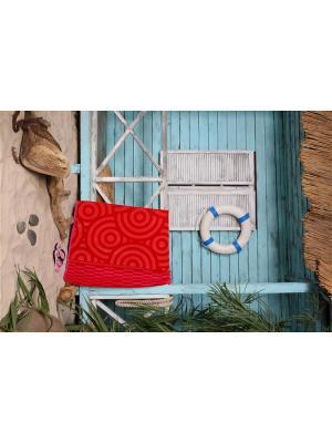 Пляжное полотенце Соль 90*170 цв. красный TOALLA. Цвет: красный