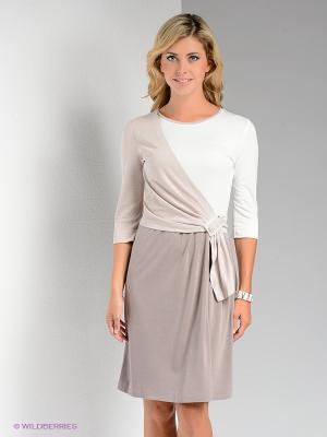 Платье Bize. Цвет: серый, белый