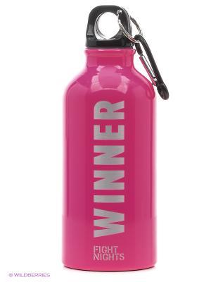 Бутылка для воды Fight Nights. Цвет: розовый