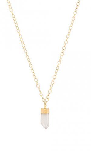 Ожерелье selma Mimi & Lu. Цвет: металлический золотой